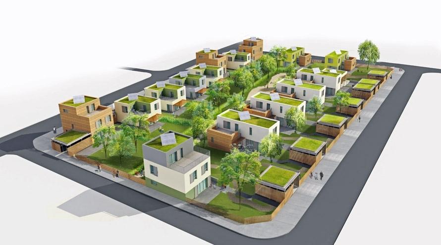 16 maisons locatives qe et passif quartier des merlattes for Animateur maison de quartier