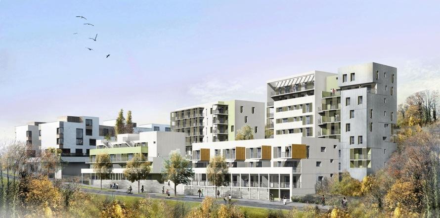 62 logements mixtes qe bbc la duch re lyon 69. Black Bedroom Furniture Sets. Home Design Ideas