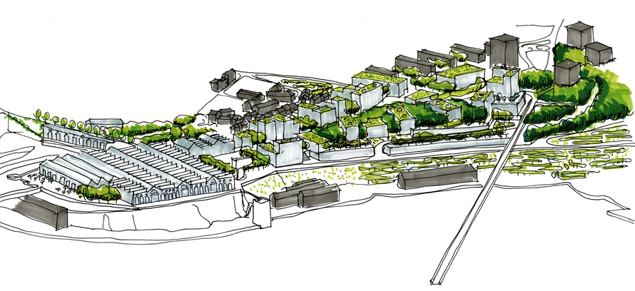 ecoquartier du plateau des capucins atelierphilippemadec. Black Bedroom Furniture Sets. Home Design Ideas