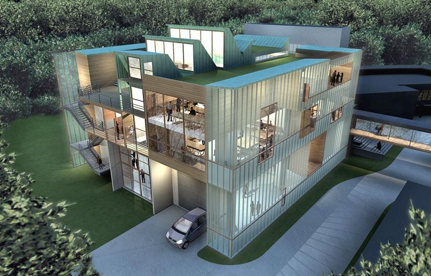 Extension de lecole darchitecture hqe atelierphilippemadec - Cabinet d architecture lille ...