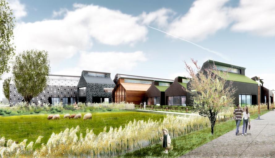 Maison du marais et de ses paysages qe et passif for Architecture des jardins et du paysage