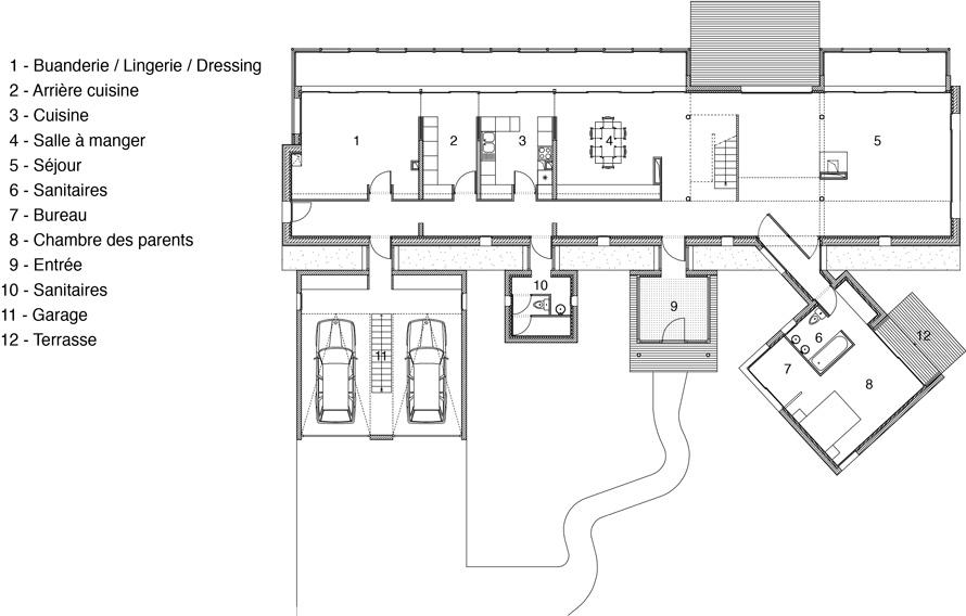 maison m hqe passif et ventilation naturelle atelierphilippemadec. Black Bedroom Furniture Sets. Home Design Ideas